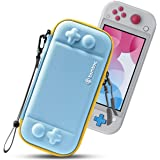 tomtoc Slim Case for Nintendo Switch Lite, Original Patent Protective Portable Carrying Case Travel Storage Hard Shell with 8