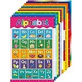 Yoklili Educational Preschool Posters for Toddlers and Kids Classroom Nursery Homeschool Kindergarten Learning Alphabet Numbe