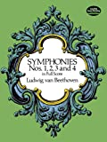 Beethoven: Symphonies Nos. 1,2,3 and 4 in Full Score