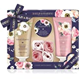 Baylis & Harding Royale Garden 4 Piece Set, Lemon blossom & White rose, Lavender & Geranium and Daisy & Elderflower