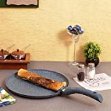 Wonderchef Granite Forged Non-Stick and PFOA-Free Aluminum Indian Cooking Dosa Tawa Crepe Pan, 28cm Pan, Gray