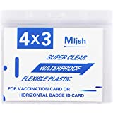 2 Pack - Clear Vaccination Card Protector 4×3 in for CDC Immunization Badge, Waterproof 4x3 Horizontal Badge I'D Name Tag,Vin