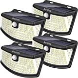 Aootek New Solar Lights 120 LEDs Upgraded with Lights Reflector,270° Wide Angle, IP65 Waterproof, Easy-to-Install Security Li