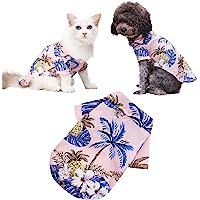 犬服 小型犬 猫(に適し1?15kgペット)ビーチ パイナップル シャツ ハワイ ペット ファッション ベスト Tシャツ…