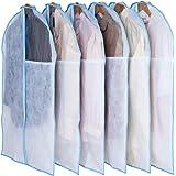 アストロ 洋服カバー 6枚 スーツサイズ 両面不織布 透明窓 防虫剤ポケット付き 底までカバー 126-29