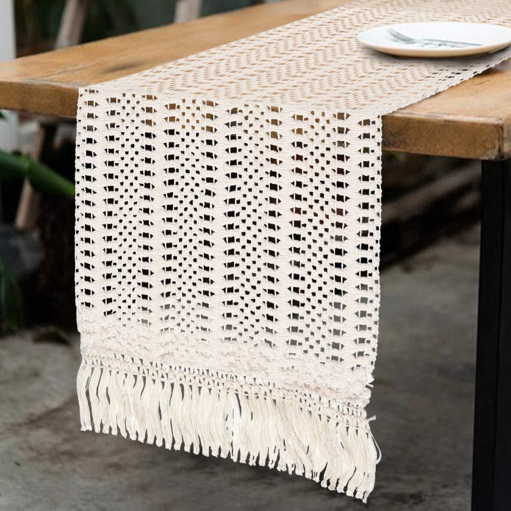 13.8x 94 Flber Macrame Table Runners Handwoven Boho Wedding Table Decoration Bedding Blanket,13.8x 94
