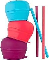 Boon Snug Straw, Pink/Purple/Blue, (Pack of 3)