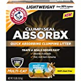 Clump & Seal AbsorbX Clumping Litter, MultiCat, 15 lb (Works Like 30 Pounds)