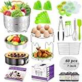 13 Pieces Accessories Set Fits 6 8 Qt InstaPot Ninja Foodi Other Pressure Cookers with Steamer Basket Springform Pan Egg Bite