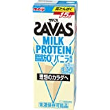 【ケース販売】明治 ザバス(SAVAS) ミルクプロテイン 脂肪 0 バニラ風味 200ml×24本入
