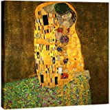 Wieco Art - The Kiss by Gustav Klimt Famous Oil Paintings Reproductions Gallery Wrapped Modern Giclee Canvas Prints Artwork P