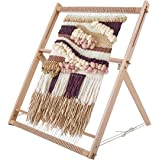"27.6"" H x 19.7"" W Weaving Loom with Stand Wooden Multi-Craft Weaving Loom Arts & Crafts, Extra-Large Frame, Develops Creativi"