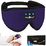 MUSICOZY Sleep Headphones Bluetooth 5.0 Headband Breathable 3D Sleeping Headphones, Wireless Music Eye Mask Sleep Eadbuds for