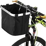 Goofly Bicycle Front Basket Folding Removable lebar Basket Pet Cat Dog Carrier Bag Aluminum Frame Top Handles