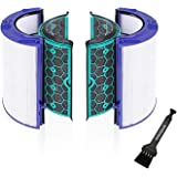 空気清浄機能付ファン交換用 TP04 DP04 HP04 用フィルター グラスHEPAフィルター & 活性炭フィルター