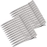 3.5 Inches Duck Bill Hair Clips Metal Alligator Curl Clips Sectioning Clips with Holes (24 Pieces)