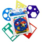 Learning Resources LER5440 Primary Shapes Template Set 7-1/2 in L x 4-1/2 in H
