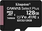 Kingston microSD 128GB 最大100MB/s UHS-I V10 A1 Nintendo Switch已確認操作 Canvas Select Plus SDCS2/128GB