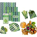 Greenries – Beeswax Food Wraps – Assorted Set of 3 – No Synthetic Wax or Chemicals – Holds for Up to a Year – Sustainable and