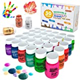 Tempera Paint,Shuttle Art 30 Colors Washable TemperaPaint Set for Kids, 2oz Bottles, Metallic Glitter and Neon Colors and Wi