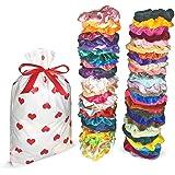 Artecrafto 60 Pcs Hair Scrunchies Velvet Scrunchies Silk Scrunchies Pack Elastic Hair Ties Ropes Scrunchie for Women or Girls