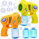 JOYIN 2 Colored Bubble Blasters Guns with 2 Bubble Solution (147 ml) for Kids, Indoor and Outdoor Play, Summer Themed Party a
