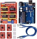 Kuman 3Dプリンター CNCキット arduino用ボード CNCシールドV3+A4988ドライバ+ヒートシンク…