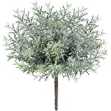 3 Pack Artificial Flocked Rosemary Bushes Faux Rosemary Plants Rosemary Greenery Shrubs Spray for Table Centerpiece Wedding B