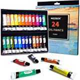 MEEDEN Oil Paint Set of 24 Tubes x 12 ml, Rich Pigments, Vibrant, Non-Toxic Paints for Kids, Students, Beginners, Hobby Paint