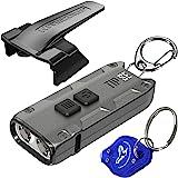 Nitecore Tip SE Gray 700 Lumen USB-C Rechargeable EDC Keychain Flashlight with LumenTac Keychain Light