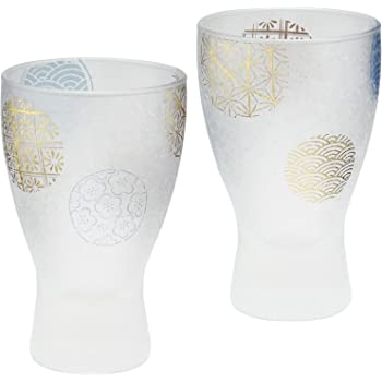 アデリア 日本酒グラス 100ml 丸紋 酒グラスペアセット プレミアムニッポン 日本製 S-6210
