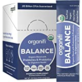 Organifi: Balance - Prebiotic and Probiotic Supplement - 30 Portable Sticks - Organic, Vegan, No Gluten, Dairy, or Soy - for