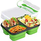 Silicone Collapsible Food Storage Containers, Silicone Lunch Box Containers for Kids or Kitchen, BPA Free, Microwave, Dishwas