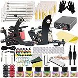 Tattoo Machine Kit - SOTICA Professional Tattoo Kit Complete with Coils Machine Tattoo Power Supply Tattoo Foot Pedal Tattoo