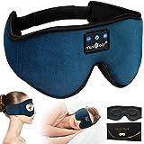 MUSICOZY Sleep Headphones 3D Bluetooth 5.0 Headband Wireless Sleep Mask, Sleeping Headphones Music Eye Mask Earbuds for Side
