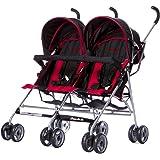 Dream On Me Twin Stroller, Dark Red