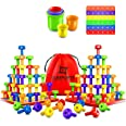 Stacking Peg Board Set Toy - Montessori Occupational Therapy Early Learning For Fine Motor Skills Ideal for Toddlers and Pres
