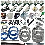 準備万端シリーズ (2回練習分) 第二種電気工事士技能試験練習用材料「全13問分の器具・電線セット」 (2021年度版)