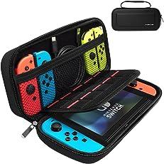 Nintendo Switch ケース X-DRAGON 高品質収納バッグ キャリングケース 外出や旅行用 ナイロン素材 防塵 防汚 耐衝撃 ケーブル イヤホンなど小物収納可 任天堂スイッチ専用バッグ (ブラック)
