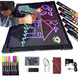 Sensory LED Message Writing Board Illuminated Drawing Painting Boards Kids Erasable Flashing Colorful Doodle Acrylic Tablet E