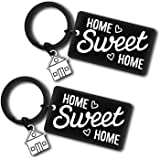 2Pcs New Home Keyring Gift Sweet Home Gift for Couple Friends Housewarming Gift for New Homeowner New House Keyring Moving in