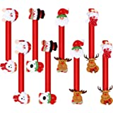 8 Pieces Christmas Refrigerator Door Handle Covers Santa Snowman Door Handle Covers Xmas Kitchen Appliance Covers for Christm