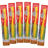 Kids Toothbrush, 6-Pack Colgate Bunny Toothbrushes For Children, Sensitive Extra Soft Bristle Cavity and Gum Protection Junio