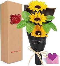 YOBANSA レグランス ソープフラワー 花束 ギフトボックス 誕生日 母の日 記念日 先生の日 バレンタインデー 昇進 転居など最適としてのプレゼント