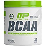 MusclePharm Essentials BCAA Powder, Post-Workout Recovery Drink, Unflavored, 30 Servings