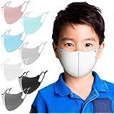 マスク 夏用 冷感マスク 6枚セット アイスシルク 紐の長さ調整可能 洗えるマスク UVカット 布マスク 男女兼用 Naturali (子供用(グレー))