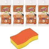 スリーエム(3M) キッチン スポンジ 油汚れ コゲ落とし オレンジ 4個 スコッチブライト HBE-4P