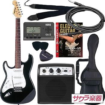 SELDER セルダー エレキギター ストラトキャスタータイプ サクラ楽器オリジナル ST-23LH/BK 初心者入門リミテッドセット レフティ 左利き用