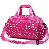 Girls Gym Sport Duffle Bag for Little Kids Teens Women Overnight Weekend Short Trip Travel Duffel Bag for School Carryon Lugg
