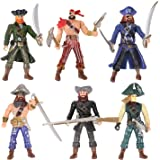 "HAPTIME 6 Pcs Action Figure (Each 3.75"" Tall) Pirate"